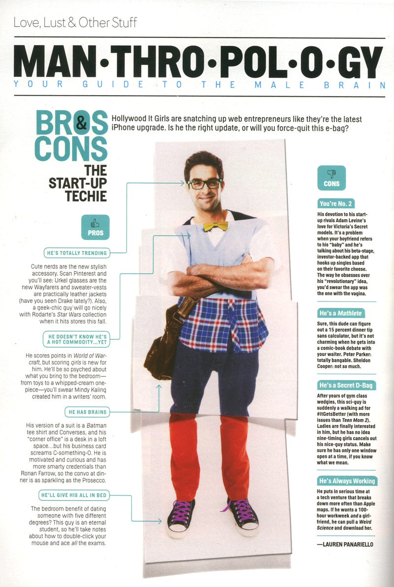 This Month in Cosmo: Should You Try to Snag a Hot Techie Boyfriend?