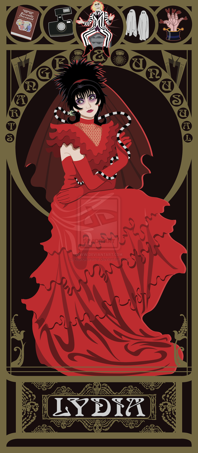 Lovely Art Nouveau Portraits of the 1980s' Greatest Fantasy Heroines