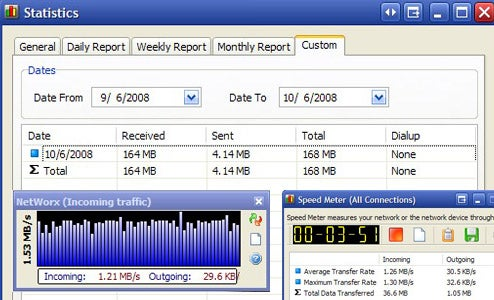 NetWorx Monitors Your Bandwidth and More