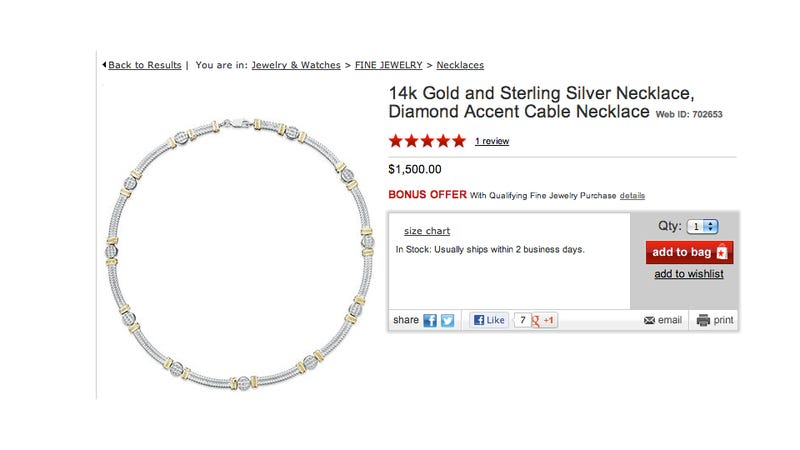 Macy's Accidentally Sells $1500 Diamond Necklace For $47