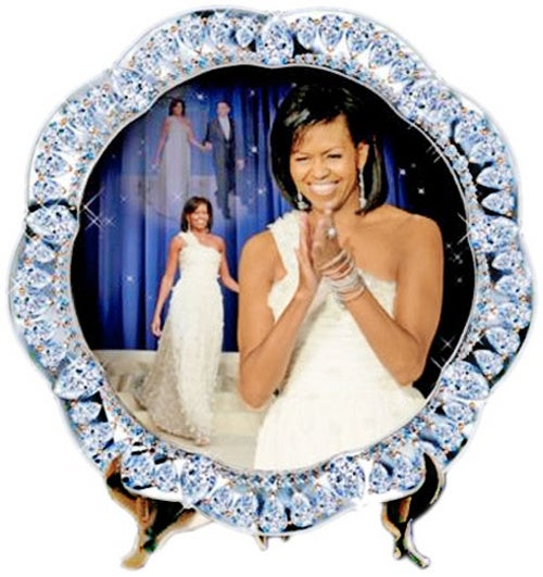 Michelle Obama Dessert Plates Perfect For Presidential Pie