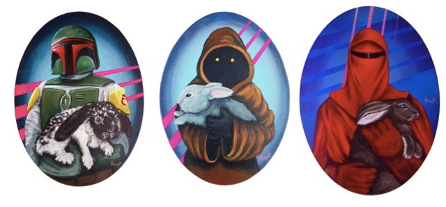 Star Wars characters holding bunnies. Human art was meant to culminate in this moment.