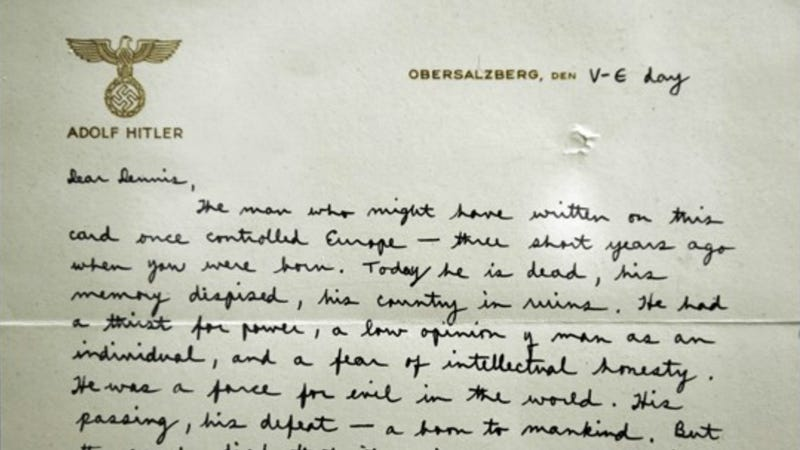 The Letter a Soldier Wrote to His Son On Hitler's Stationery