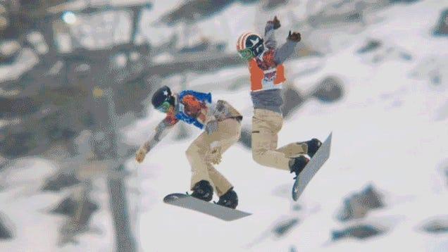 Snowboard Cross Semifinal Features Nutshot, Photo Finish