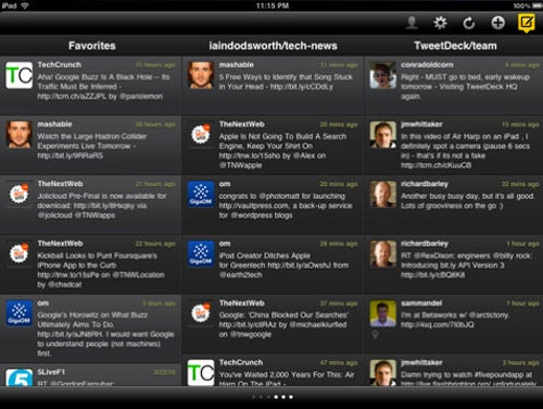TweetDeck on iPad Makes Use of That Wider Screen
