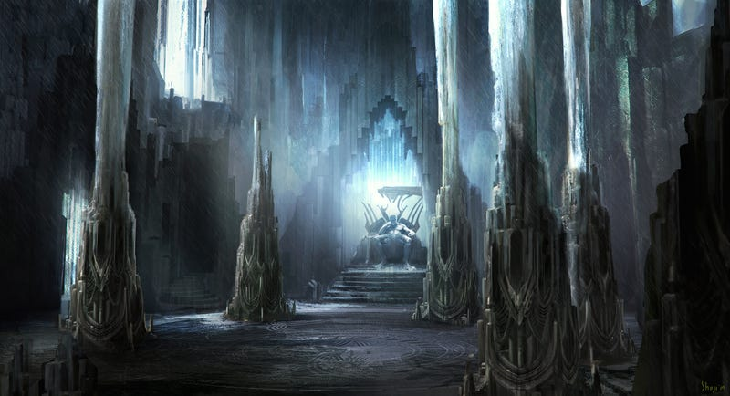 Thor concept art includes a complete map of Asgard