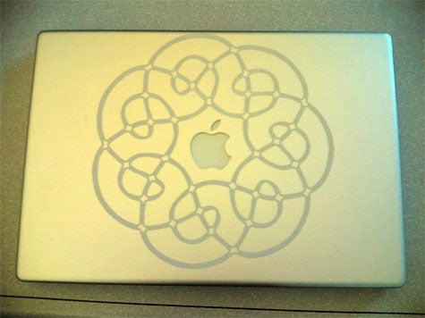 Laser etching a Powerbook