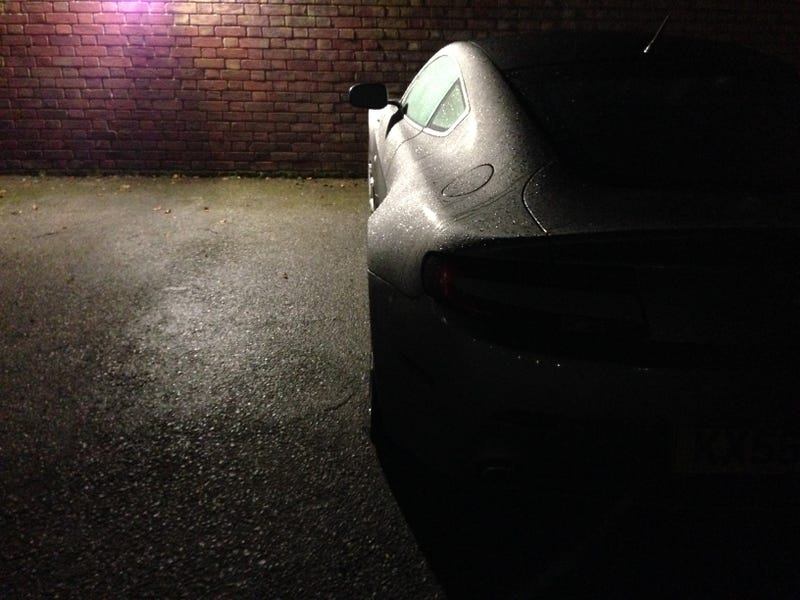 This Aston Vantage is parked outside my place here in England.
