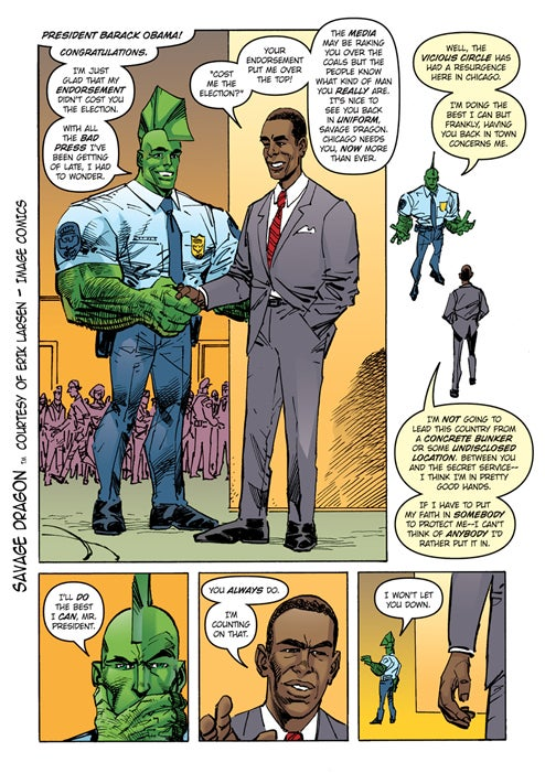 President Elect Obama Now To Govern Comic Books As Well