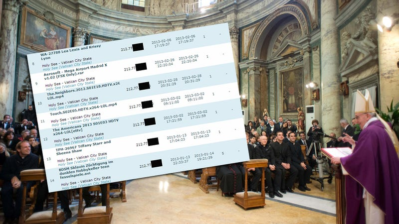Here Are the Top Pornos Downloaded in the Vatican