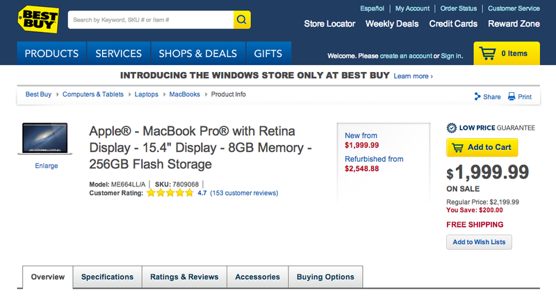 You Can Get $300 Off a Retina MacBook Pro (Plus an Apple TV) at Best Buy