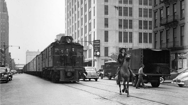 Trains Used To Drive Down The Goddamn Street In New York City