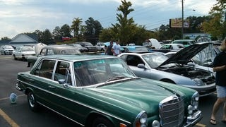 A small car show at the Lowes in Rome, GA.