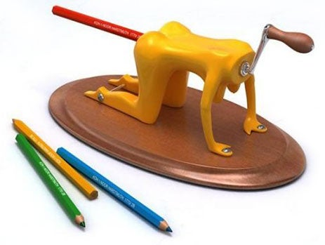 Doggy Style Pencil Sharpener Takes One for the Team