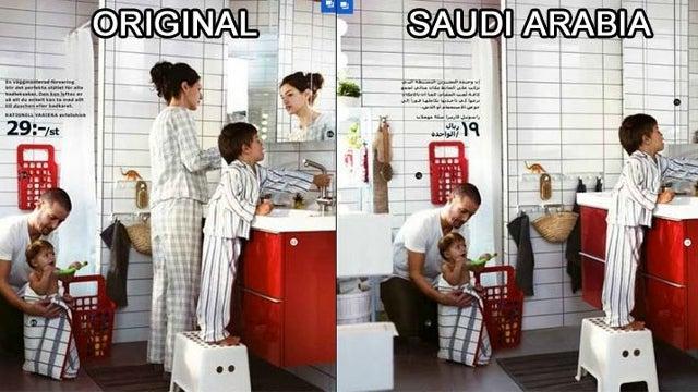 Ikea Caught Photoshopping Women Out of Its Saudi Arabian Catalog
