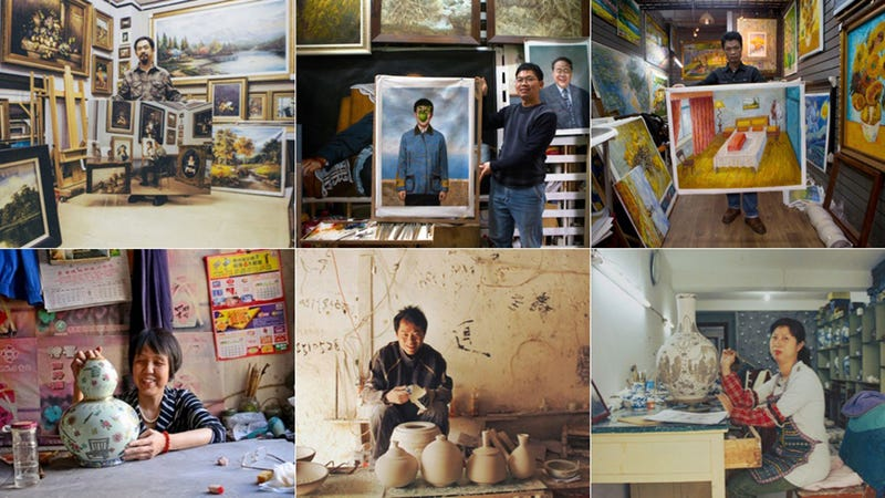 What Happens When China's Copycat Masters Are Hired to Paint Themselves
