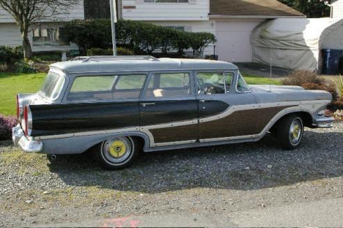 After 50 Years, Woody Edsel Wagon Still Laughs At Washington Rain