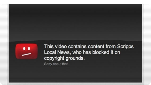 YouTube Takedowns Just Got Slightly Less Absurd
