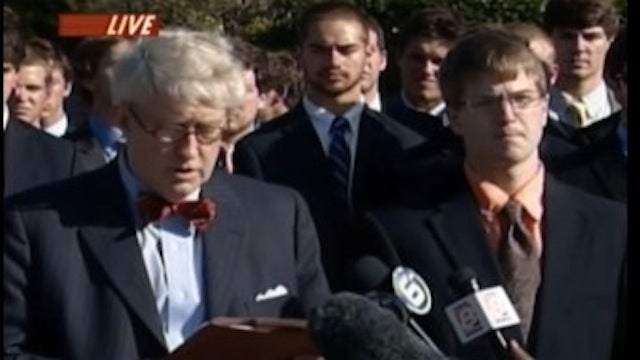 Tennessee Fraternity Holds Hilarious Press Conference to Deny Butt Chugging Charges