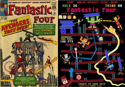 Donkey Kong Versus The Fantastic Four