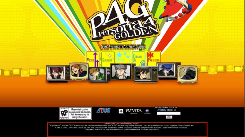 Persona 4 Website Mentions Xbox 360 and Kinect. Wait, What? [UPDATE]