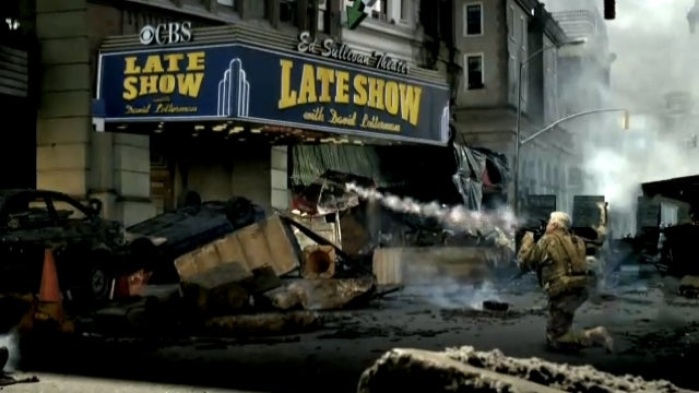 Jay Leno Is a Troll. Blows Up Letterman's Studio in Modern Warfare 3