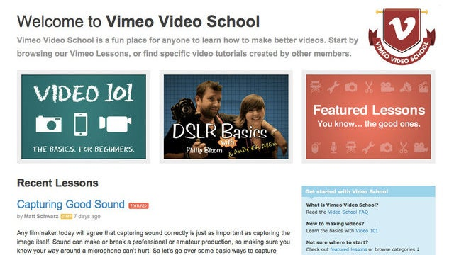 Vimeo Video School Offers Free Tutorials to Help Improve Your Video Skills