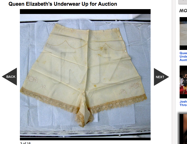 Want to Buy Queen Elizabeth's Underwear?