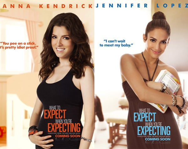 Whose Baby Bump Is Least Convincing in the What to Expect Posters?