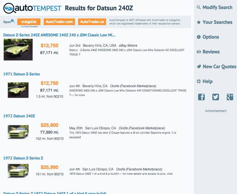 AutoTempest wants your input on their new used car search!