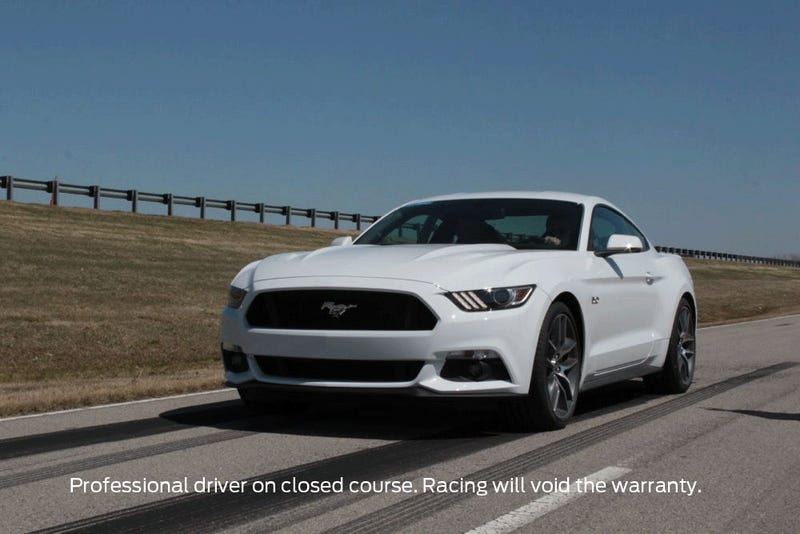 This is the first official 2015 Mustang GT burnout