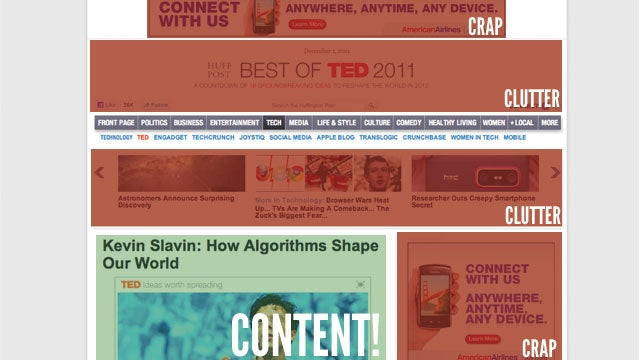 How Do You Make Reading Ad-Filled Web Sites Less Miserable?
