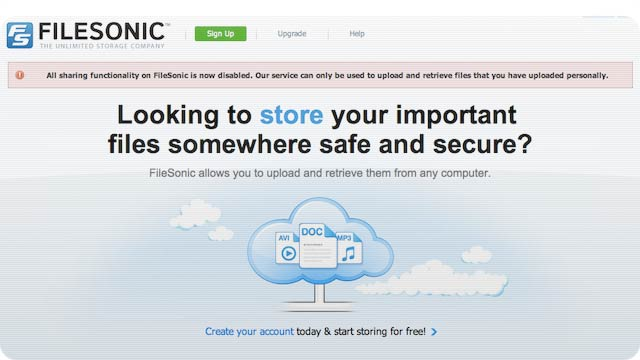 FileSonic Just Killed Itself By Disabling File Sharing