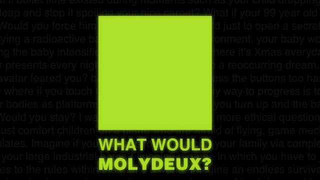 Peter Molydeux Game-Jam Gathers Steam, Participants and... Maybe Even Peter Molyneux Himself [Update]