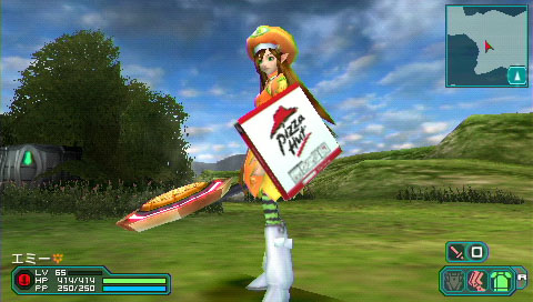 You've Got Pizza Hut In My Phantasy Star Portable 2