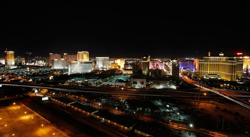 The Las Vegas Strip, Before and During Earth Hour