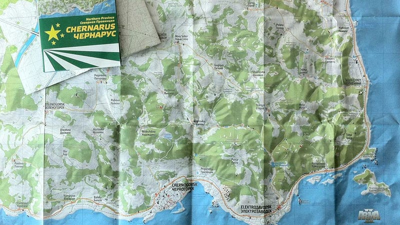 Find Your Way Around DayZ With This Real, Paper Map
