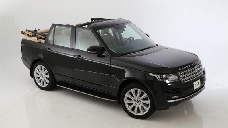 Someone Turned A Range Rover Into A Volkswagen Rabbit Cabrio