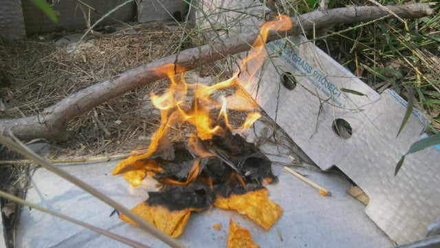 Use Doritos (or Other Chips) to Start a Fire