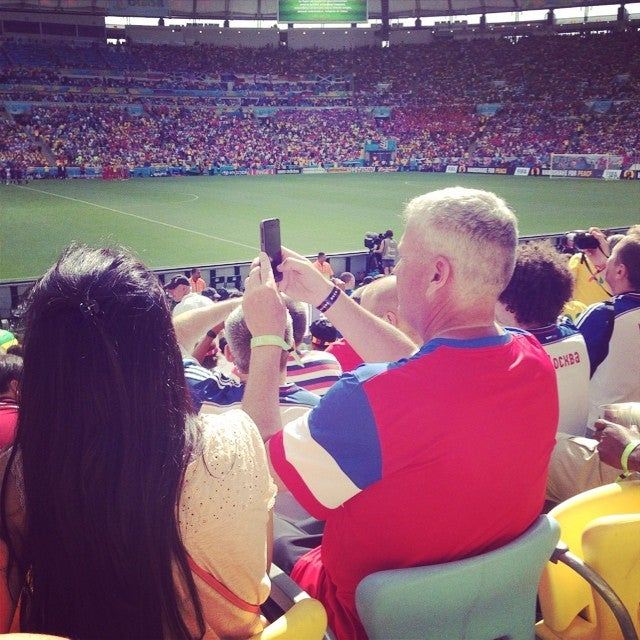 Rex Ryan's Enjoying Some Footy In Brazil
