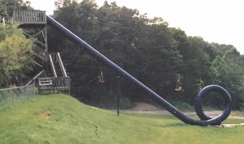 Rare Video Of People Actually Riding Action Park's Infamous Water Slide
