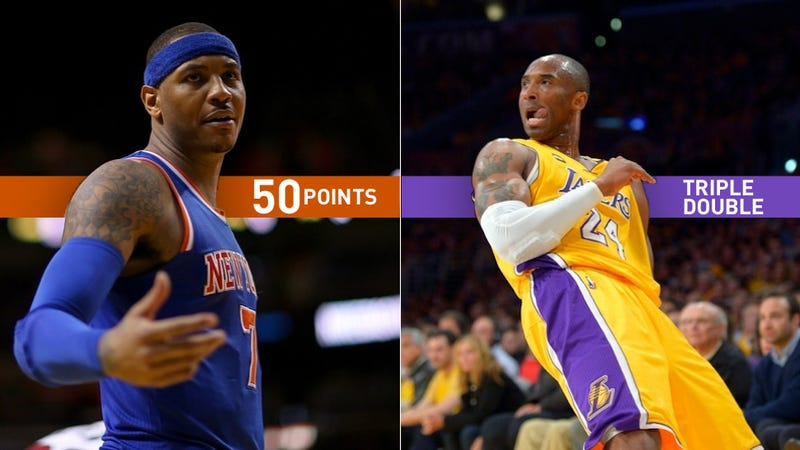 It Was Carmelo Vs. Kobe, On Opposite Coasts