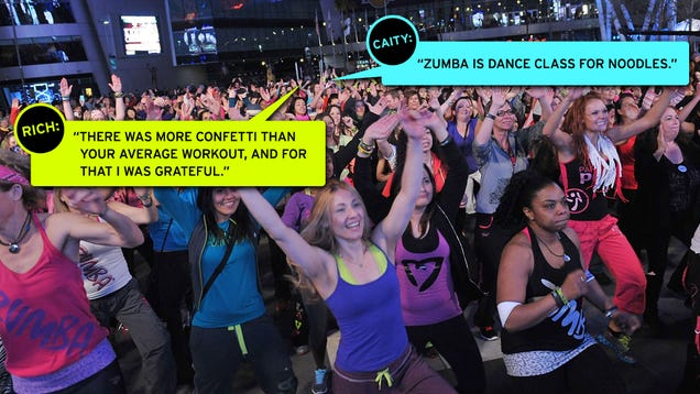How can you not lick the air gawker does zumba with for Sideboard zumba