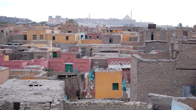 Cairo's City of the Dead, a slum where 500,000 people live among tombs