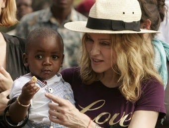 Madonna's Charitable Contributions: Soiled Baby Clothes and Her Dumb Book