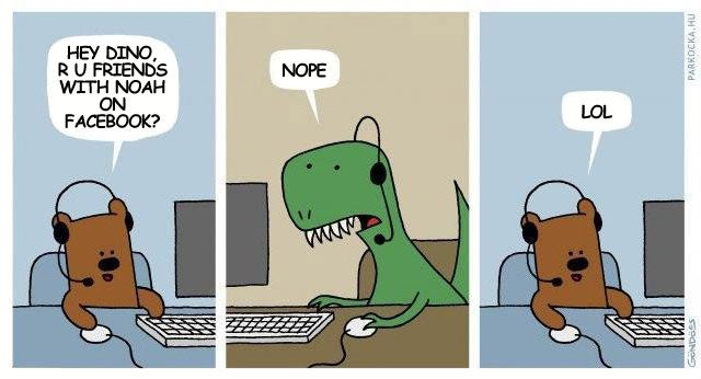 Facebook Explains Why Dinosaurs Disappeared