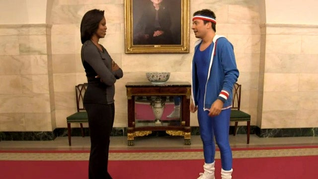 Watch Michelle Obama Wipe the White House Floor With Jimmy Fallon