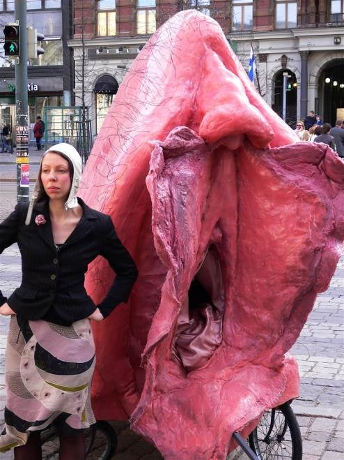 Giant Vulva Bicycle Taxi Is Freudian Wet Dream