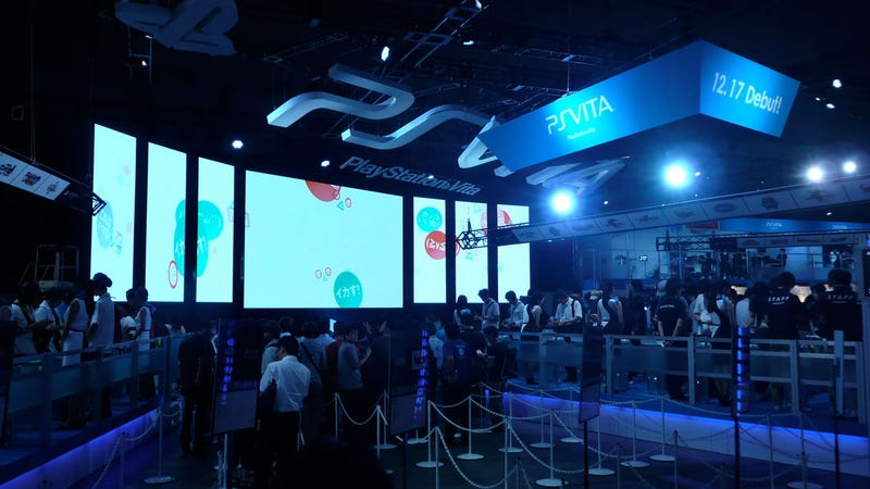 Sony's Tokyo Game Show Booth, In Living Colour