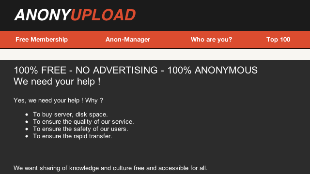 Anonymous Is Launching a MegaUpload Alternative?
